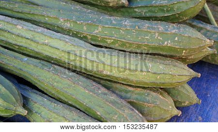 The luffa or dishcloth gourd background