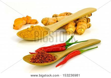 Hot And Spicy Ingredients.