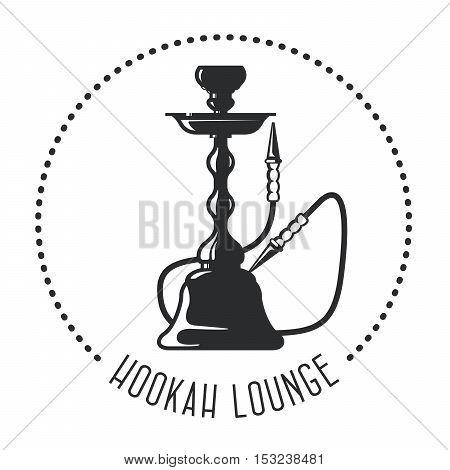 Hookah lounge emblem - shisha bar label