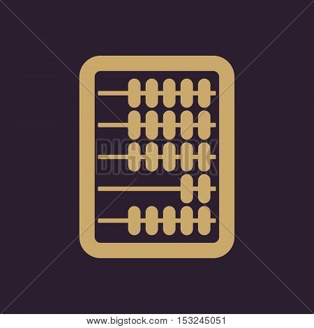 The abacus icon. Finance and calculation, accounting, calculator, arithmetic, mathematics symbol. Flat Vector illustration