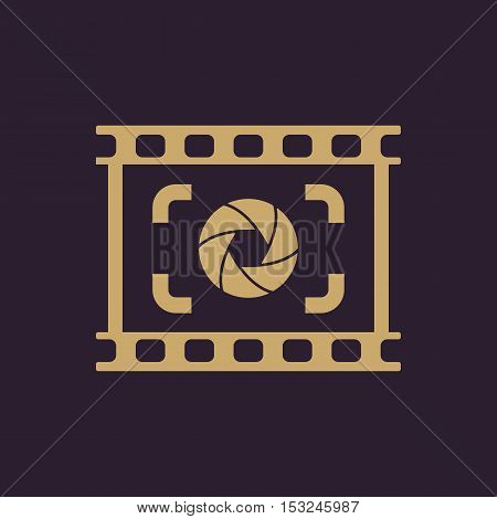 The viewfinder icon. Focusing and photography, photo symbol. Flat Vector illustration