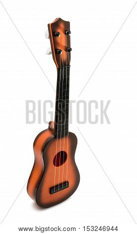 folk sound ukulele isolated on white background