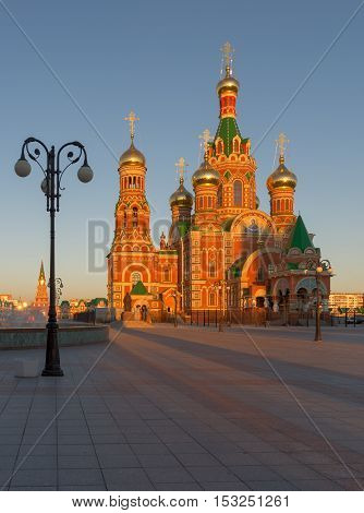 Cathedral. Yoshkar - Ola city, Russia .