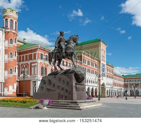 The Square Of Obolensky-Nogotkov. Yoshkar-Ola city, Russia