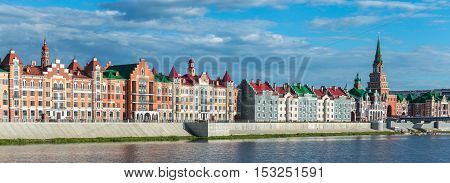 Embankment Bruges. Yoshkar - Ola city, Russia