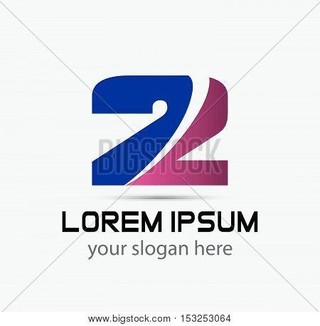 Number 2 logo. Vector logotype design. design vector template