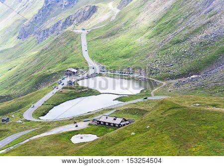 lake in mountain, Grossglockner pass in Austria