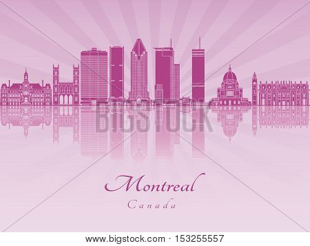 Montreal V2 Skyline In Purple Radiant Orchid