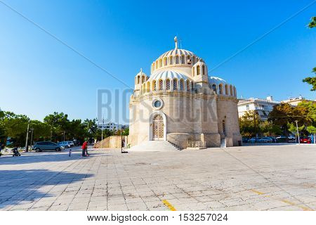 Athens, Greece - October 15, 2016: Church of St. Constantine and Helen in Glyfada, Athens, Greece.