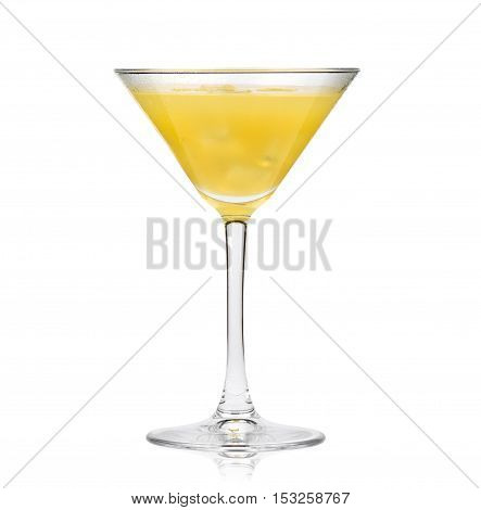 Yellow Cocktail In Martini Glass
