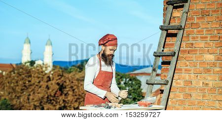 Man Cook With Rolling Pin