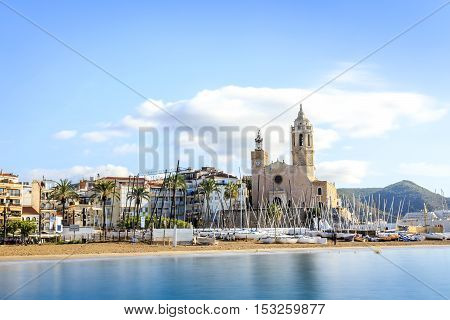 Beautiful Town Of Sitges, Catalonia, Spain