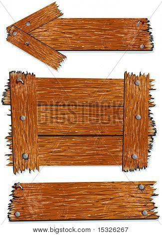 Wooden signs/board-vector illustration