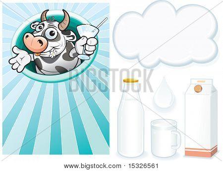 Milk -design elements poster