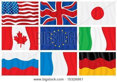 G8 vector waving flags