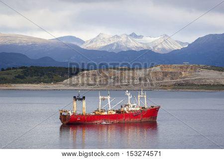 Fishing Boat In Beagle Channel