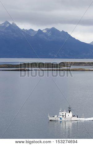 Naval Boat In Argentina