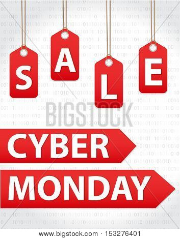 Cyber Monday sales Cyber Monday Super offer discounts. Cyber Monday poster banner. Vector illustration