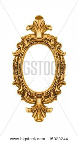 Oval vintage gold ornate frame