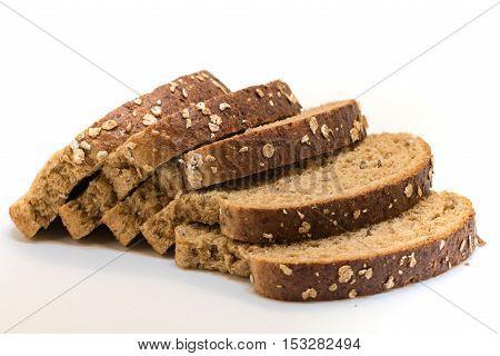 Closeup of sliced wholegrain bread very healty to eat.