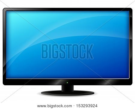 Illustration of tv set on white background