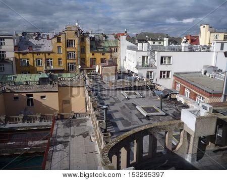 Prague City Center Roof Panorama