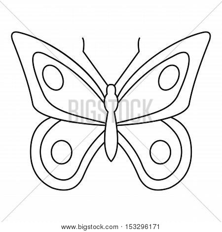Lovely butterfly icon. Outline illustration of lovely butterfly vector icon for web