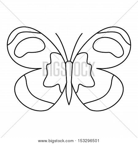 Figured butterfly icon. Outline illustration of figured butterfly vector icon for web