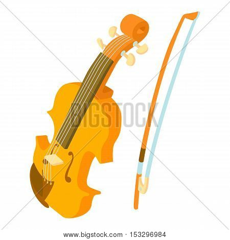 Contrabass icon. Cartoon illustration of contrabass vector icon for web