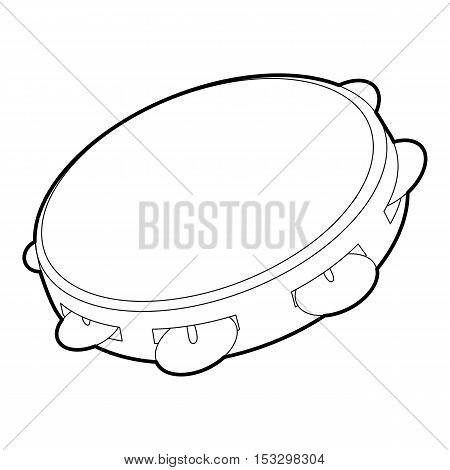 Tambourine icon. Outline isometric illustration of tambourine vector icon for web