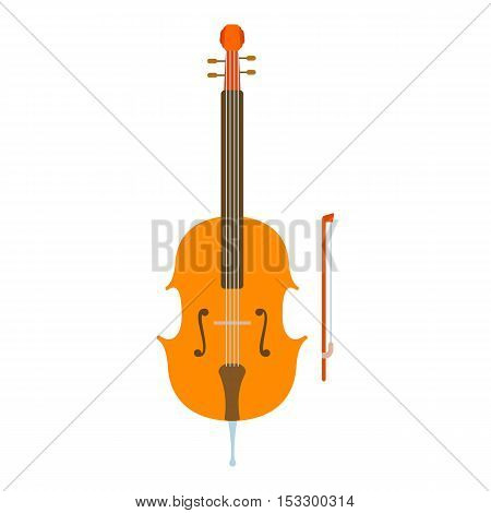 Violin icon. Flat illustration of violin vector icon for web