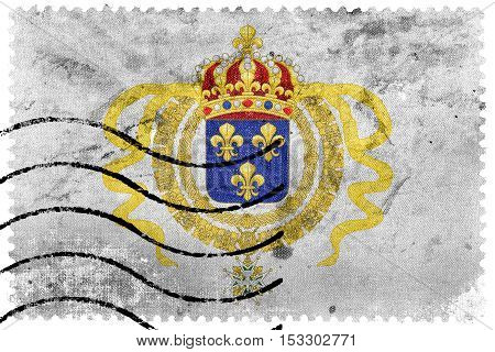 Flag Of Acadia, Canada, Old Postage Stamp