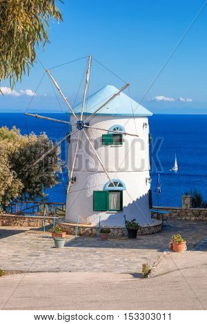 Old Windmill On Skinari, Zakynthos Island, Greece