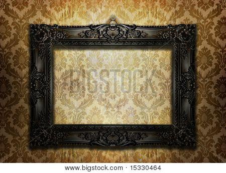 Black ornate picture frame