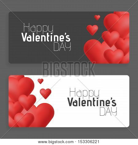 Hearts on abstract love background. Be my valentine. Love romantic messages with hearts. February 14. Valentines day card, banner. Global love day, may 1. Three dimensional red hearts shapes.
