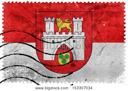 Flag Of Hanover, Germany, Old Postage Stamp