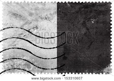 Flag Of Metz, France, Old Postage Stamp