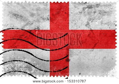 Flag Of Milan, Italy, Old Postage Stamp