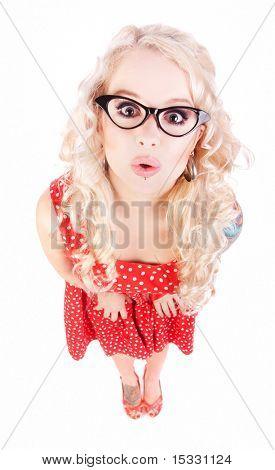 Funny nerdy girl