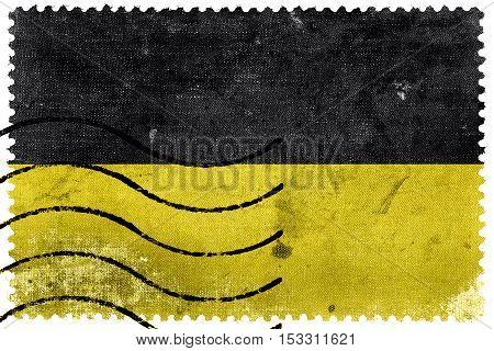 Flag Of Namur, Wallonia Region, Belgium, Old Postage Stamp