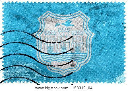 Flag Of Novi Sad, Serbia, Old Postage Stamp