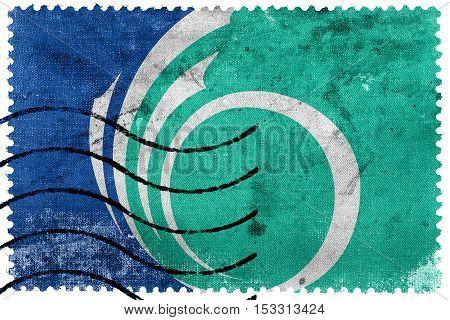 Flag Of Ottawa, Ontario, Canada, Old Postage Stamp