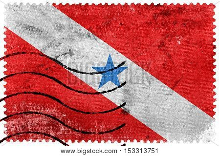 Flag Of Para State, Brazil, Old Postage Stamp