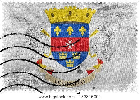 Flag Of Saint - Barthelemy, Old Postage Stamp
