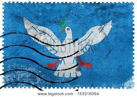 Flag Of Salvador, Bahia, Brazil, Old Postage Stamp