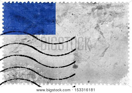 Flag Of San Sebastian, Spain, Old Postage Stamp