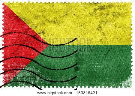 Flag Of Santa Rosa, Ecuador, Old Postage Stamp