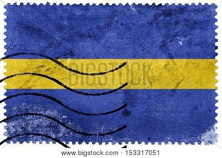 Flag Of Silesian Voivodeship, Poland, Old Postage Stamp