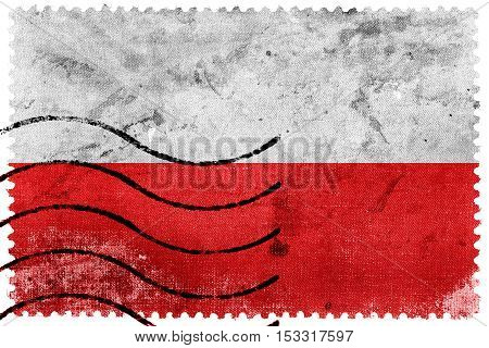 Flag Of Thuringia, Germany, Old Postage Stamp