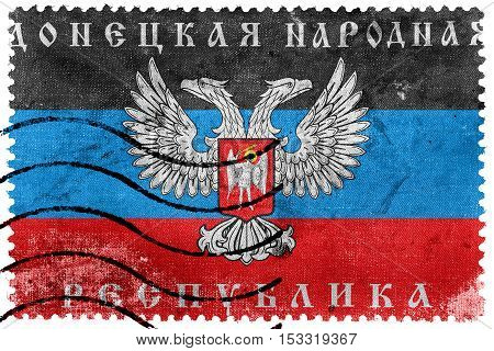 The Flag Of Donetsk Republic, A Pro-russian Separatist Organization Operating In Donetsk, Ukraine, O